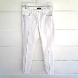 White House Black Market Jeans - White House Black Market White Jeans Skimmer Pants